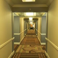 les couloirs du Mandalay Bay