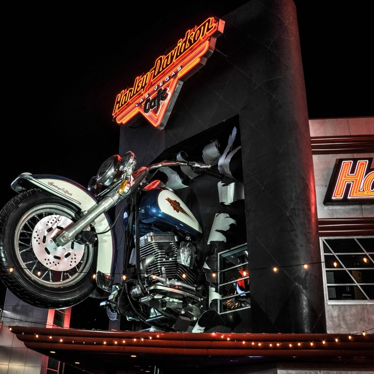 Harley Davidson sur le strip